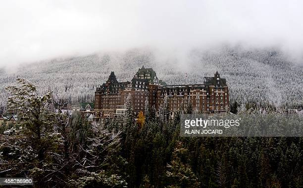 View taken on November 02 the Fairmont Hotel in Banff Alberta Canada where French President Francois Hollande is to stay on part of his threeday...