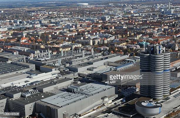 View taken on November 5 2010 shows the headquarters of German luxury car maker BMW in Munich southern Germany Due to boosting markets in China and...