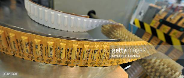 View taken on October 28 2009 shows suppositories of Doliprane a French overthecounter drug containing paracetamol during its production at French...