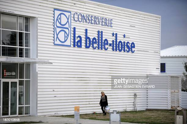 View taken on September 25 2013 in Quiberon western France shows the canning factory 'La Belle Iloise' employing 200 employees specialized in canned...