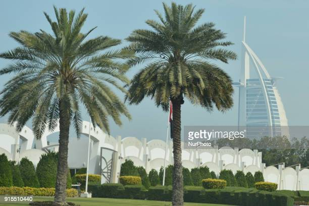 A view the Burj alArab luxury hotel On Wednesday February 7 in Dubai United Arab Emirates