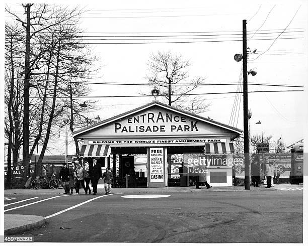 A view the entrance of Palisades Amusement Park in New Jersey Circa 1940