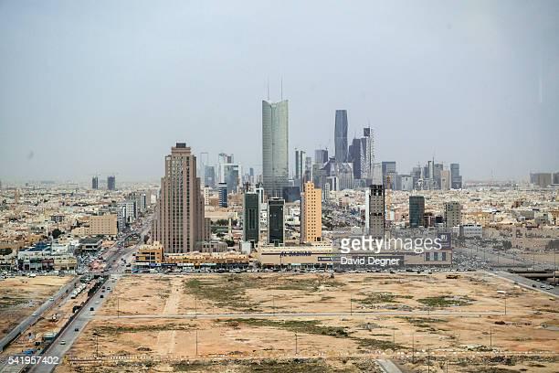 April 13: A view The King Abdullah Financial District on April 13, 2016 in Riyadh, Saudi Arabia. .