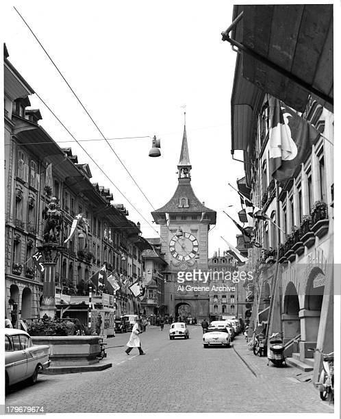 A view The Kramgasse in the old city of Bern Switzerland
