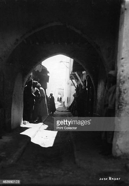 View through an archway Rabat Morocco c1920sc1930s