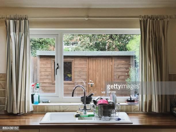 View Through an English Kitchen Window