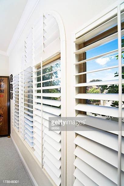Vista a través de las persianas