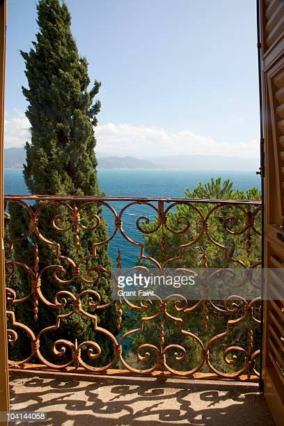 view through door to sea