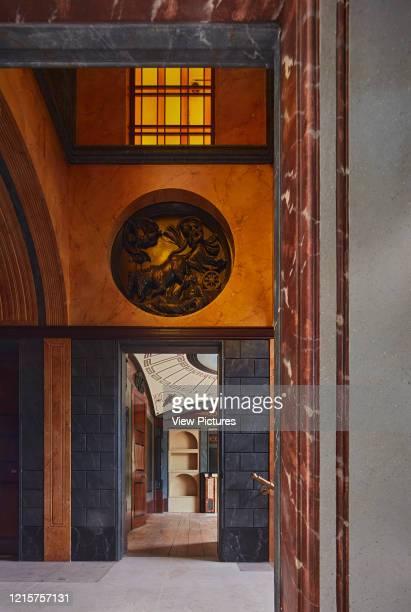 View through entrance hall to breakfast room Pitzhanger Manor London United Kingdom Architect Julian Harrap Architects 2019