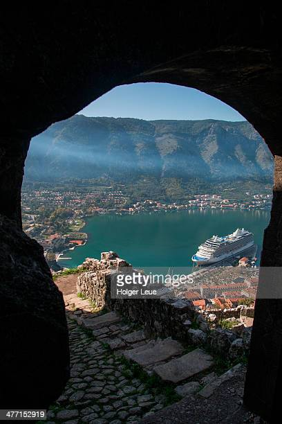 View through fortress entrance over Old Town