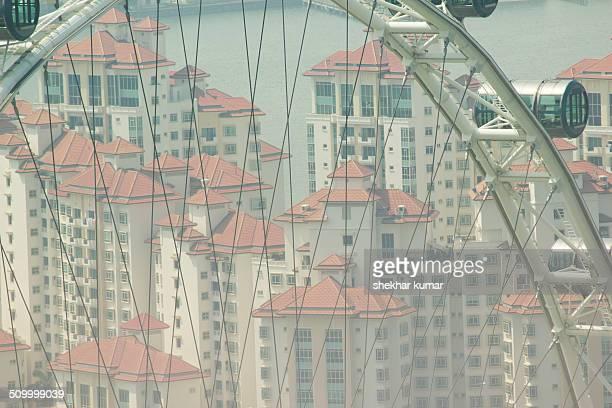 View through Singapore Flyer