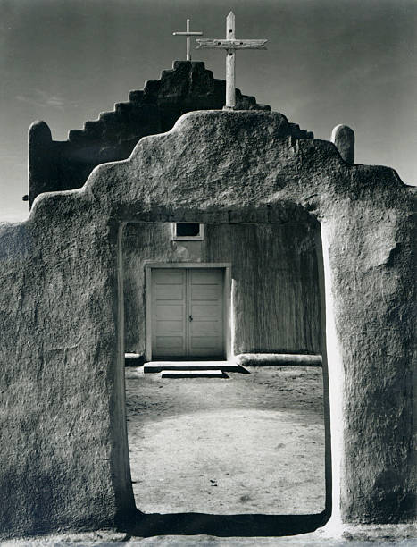 'Church, Taos Pueblo, New Mexico, 1942'