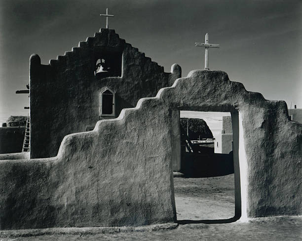 'Church, Taos Pueblo, New Mexico, 1941'