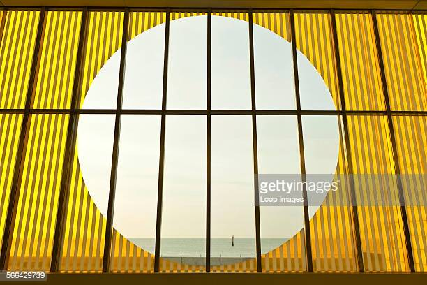A view through the interior screen glass of the Turner Contemporary Gallery in Margate