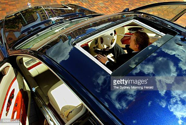 A view through the sunroof of the $1 million dollar Damler Chrysler Maybach 57 during a preview for the Australian International Motor Show at...