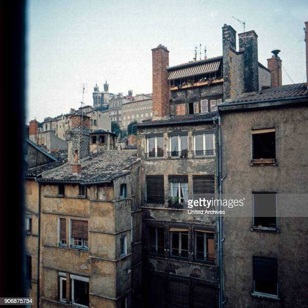 View to a backyard at Lyon France early 1980s