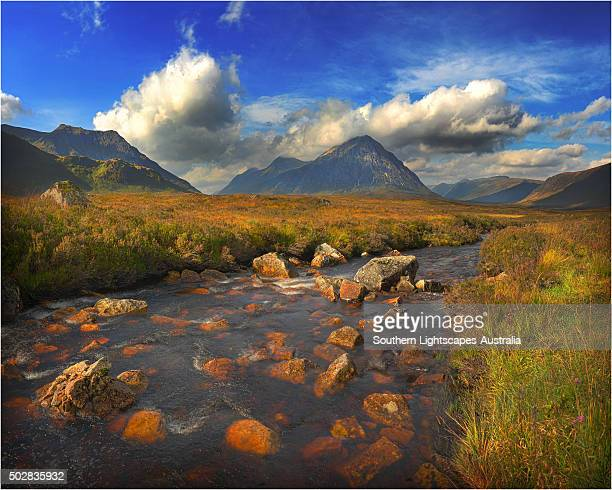A view to Buachaille Etive More, highlands of Scotland.