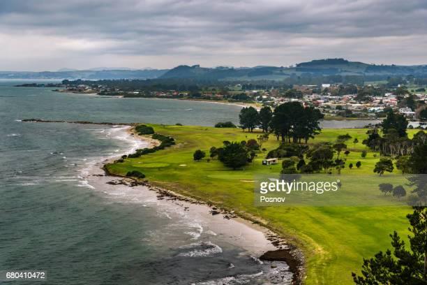 View to Burnie, Tasmania from Fossil Bluff