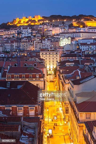 view to castelo de sao jorge, lisbon, portugal - バイシャ ストックフォトと画像