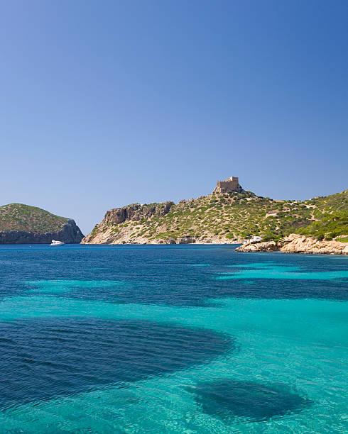 View to castle, Cabrera Island, Mallorca, Spain
