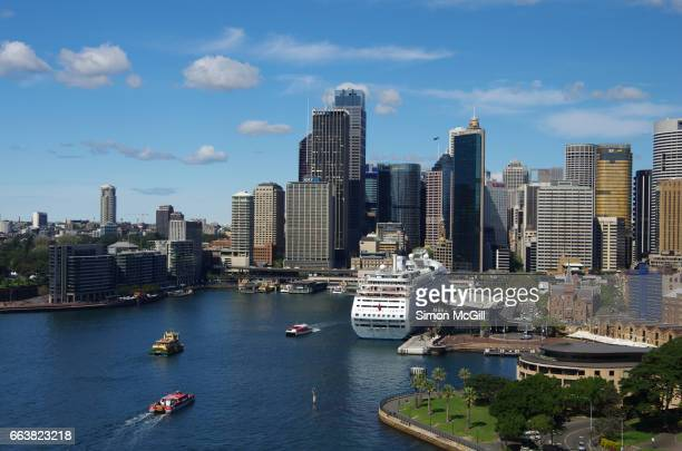 View to Circular Quay and the Sydney Central Business District, Sydney, New South Wales, Australia