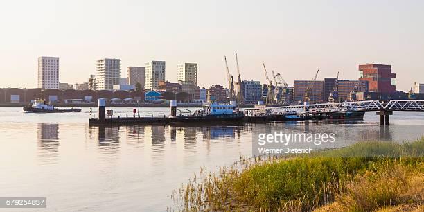 View to Eilandje quarter in Antwerp, Belgium