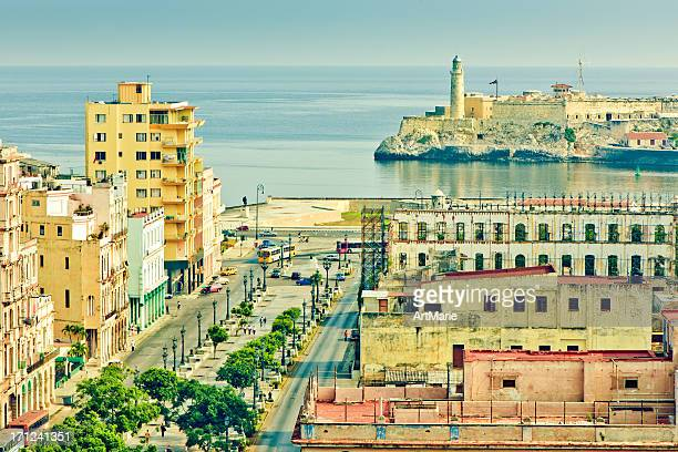 View to el Prado and Castillo del Morro, Havana, Cuba
