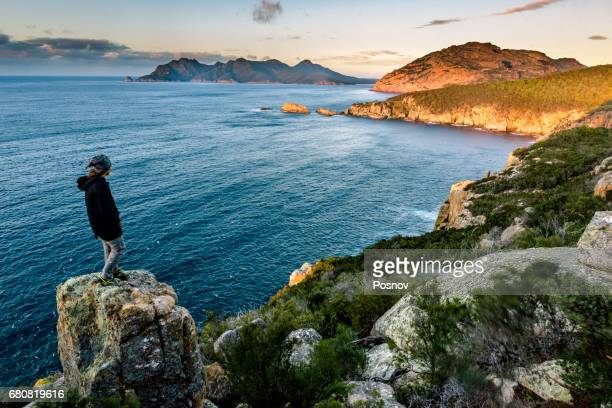 View to Freycinet Penninsula from Cape Tourville, Tasmania