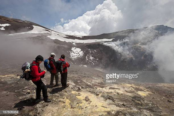 view to hell, mt. etna, sicily, italy - mt etna stock pictures, royalty-free photos & images