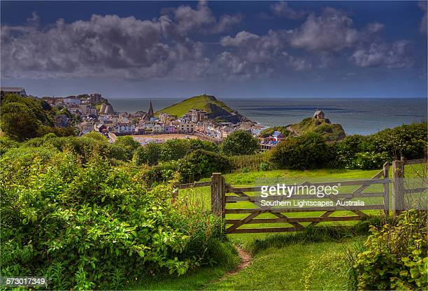 view to ilfracombe - ilfracombe stock pictures, royalty-free photos & images