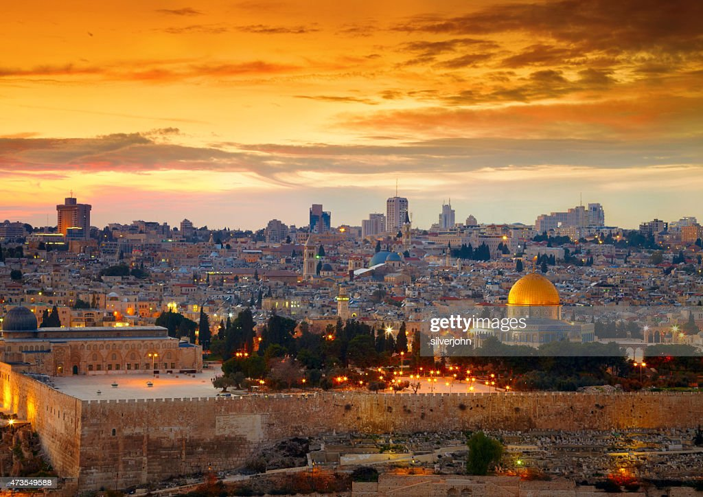 View to Jerusalem old city. Israel : Stock Photo