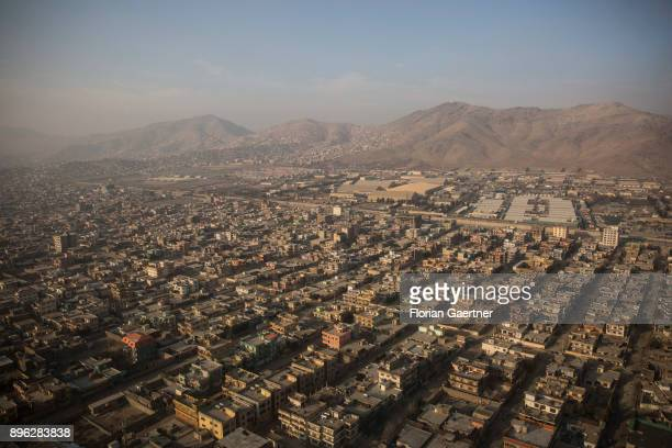 View to Kabul capital of Afghanistan on December 20 2017 in Kabul Afghanistan