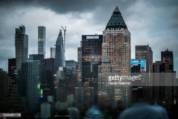 View to Manhattan on September 27 2018 in New York United States