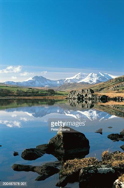 View to Mt Snowdon, Llynnau Mymbyr, Snowdonia, Wales