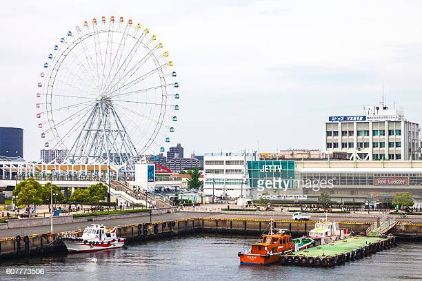 view to nagoya port, japan. - nagoya stock pictures, royalty-free photos & images