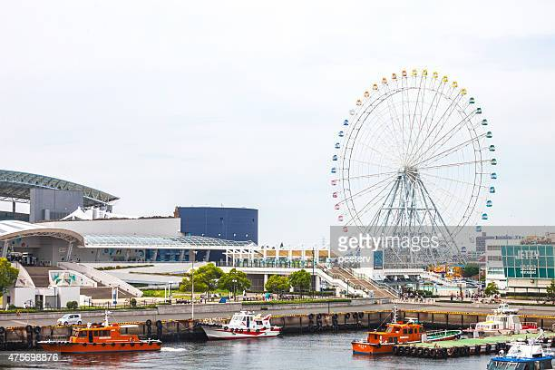 view to nagoya port. - nagoya stock pictures, royalty-free photos & images
