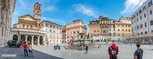 View to Piazza Santa Maria in Trastevere, Rome