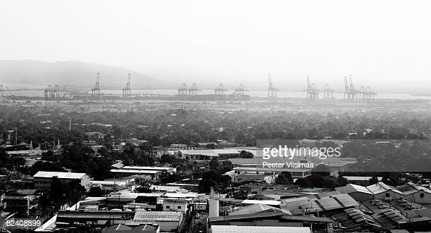 view to port of kingston. jamaica