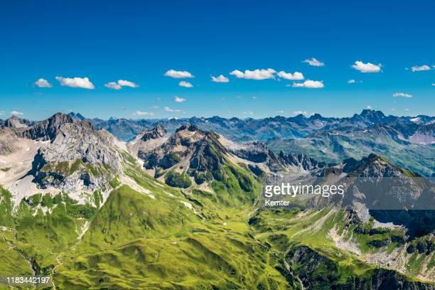 view to the alps in austria - austria foto e immagini stock