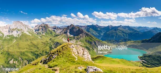 vue sur les alpes en autriche - autriche photos et images de collection