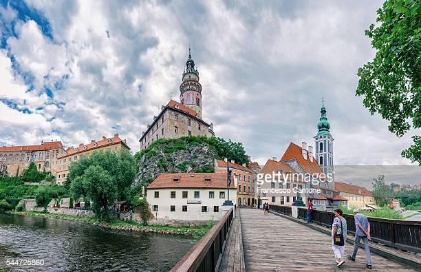 View to the beautiful city of Cesky Krumlov