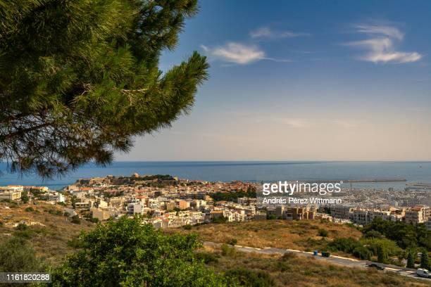View to the city of Rethymno also Rethimno, Rethymnon, Réthymnon, and Rhíthymno