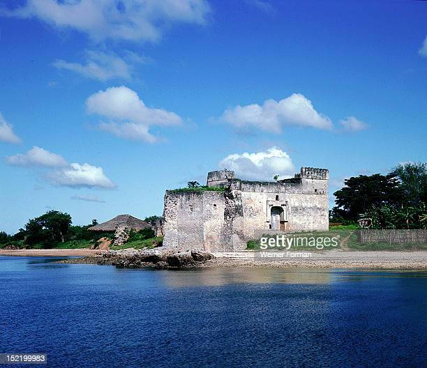 A view to the fort at Kilwa an East African trading town which dates from the 13th century Tanzania Portuguese dates from 13th century