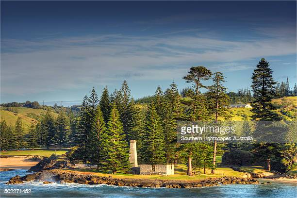 A view to the historic convict built Salt house sitting by Emily bay, Kingston, Norfolk Island.