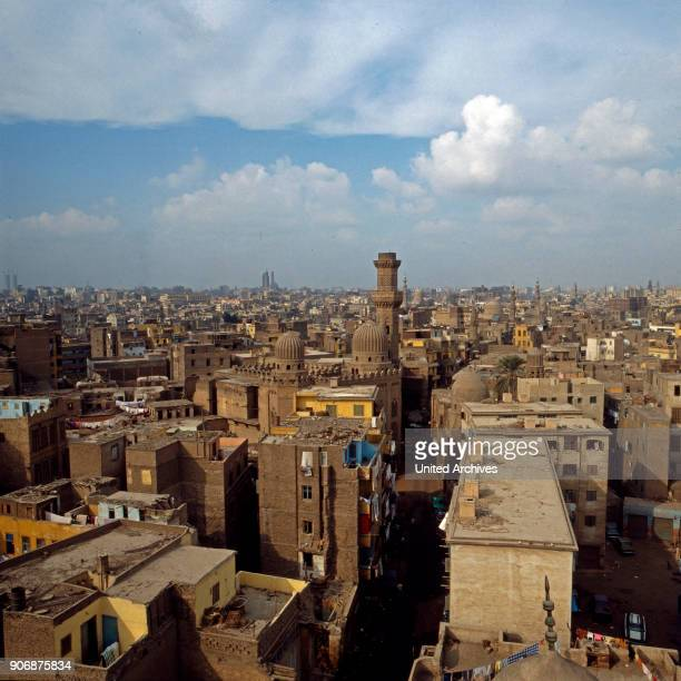 View to the old city of Cairo, Egypt, late 1970s.