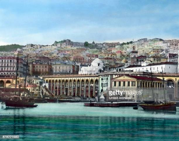 View to the port of Algiers capital of Algeria ca 1920s