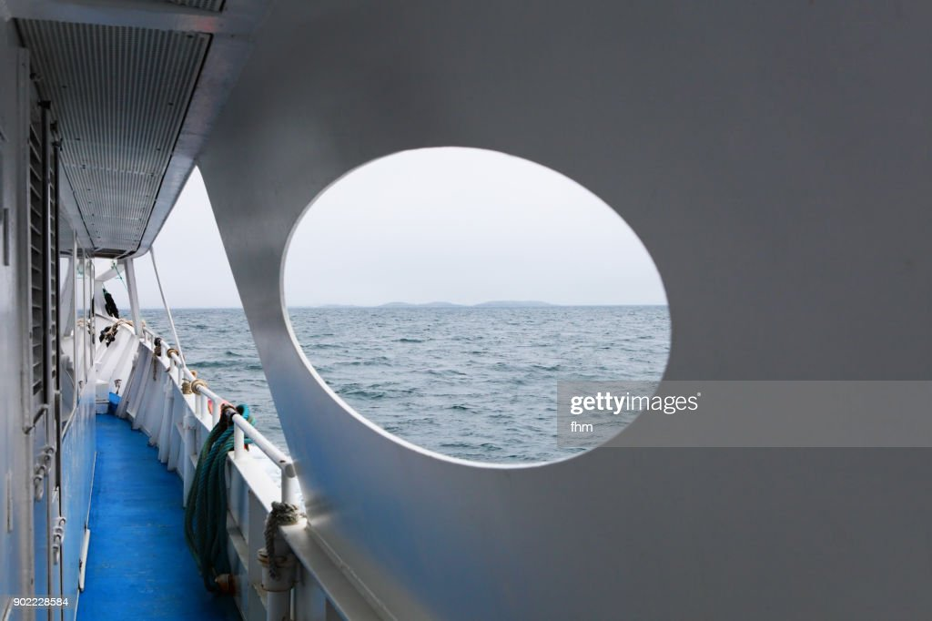 View to the sea in the english channel from a ferry (France) : Foto de stock