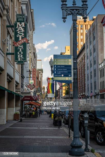 view to the southeast down gay street - brycia james stock pictures, royalty-free photos & images