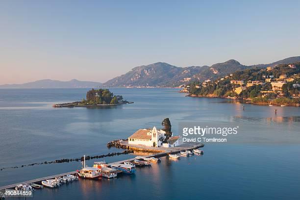 View to Vlacherna Monastery, Kanoni, Corfu, Greece