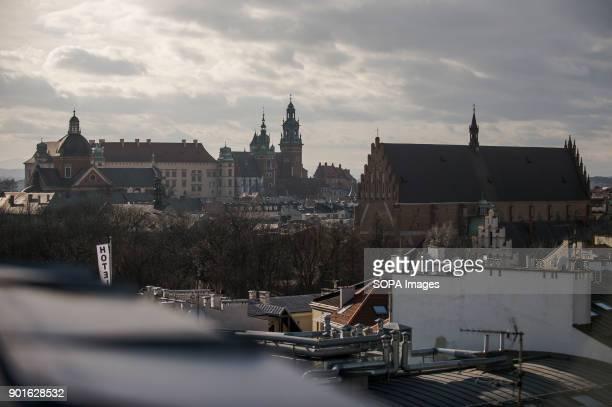 A view to Wawel Castle in Krakow